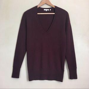Vince. Cashmere Sweater Deep Red Lightweight Knit